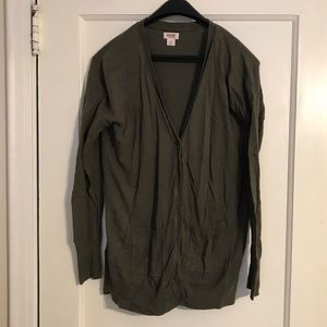 Mossimo Supply Co Olive Boyfriend Cardigan